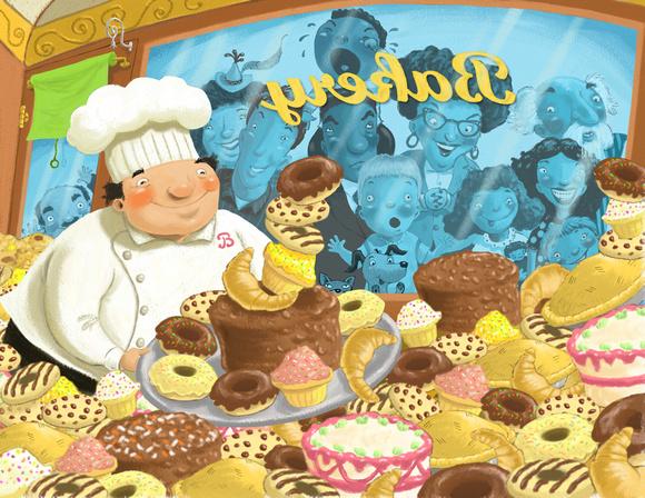 Bob McMahon Illustration | Children's Book Art | Chef's Bakery Tiff